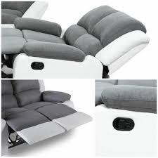 canape de relaxation relax canapé de relaxation 3 places bi matière gris et blanc