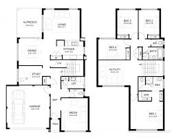double storey 4 bedroom house designs perth apg homes with plan of