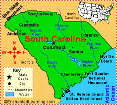 Southeast States And Capitals Map by 13 Colonies By Abigail H