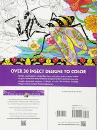 amazon com creative haven incredible insect designs coloring book
