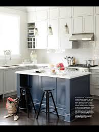 Painted Blue Kitchen Cabinets This Is The Kitchen Inspiration Blue Kitchen Island Subway Tile