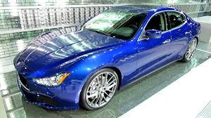 maserati ghibli blue 2014 maserati ghibli q4 exterior and interior walkaround 2013