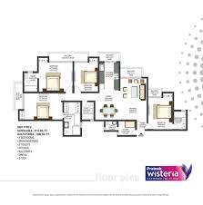 Wisteria Floor Plan 09810000375 Prateek Wisteria Resale Price Flats In Noida Sector 77
