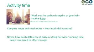 Calculate Your Carbon Footprint Worksheet Sustainable Hairdressing Lecture Outline Section 1 Key