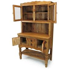 Kitchen Hutch Furniture Rustic Pine Kitchen Hutch With Glass