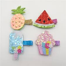 felt hair accessories 20pcs lot glitter metallic fruit food felt hair pineapple