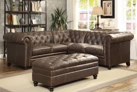 Leather Sectional Sofa Bed by Roy Sectional Sofa 500268 Brown Bonded Leather Match By Coaster