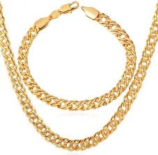plated chain necklace images Unique design gold plated chain necklace and braclet jewelry set jpg