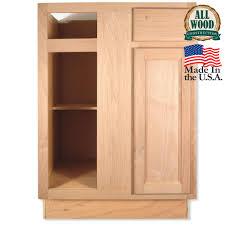 unfinished oak blind corner base cabinet mf cabinets