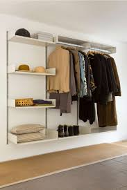 wall shelf with clothes rail