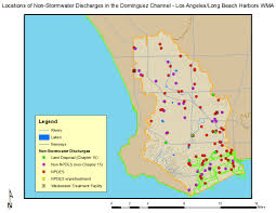 Map Of Long Beach Dominguez Channel And Los Angeles Long Beach Harbors Wma