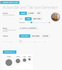 android icon generator android icon generator for actionbar and notification not working