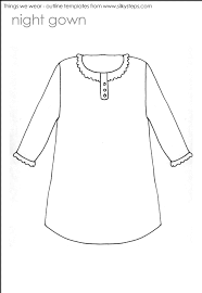 night gown outline template