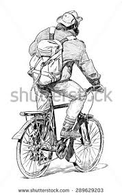 stopped cyclist stock vector 138371744 shutterstock