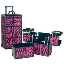 Hair And Makeup Case Professional Rolling Makeup Case Trays Zebra Makeup Brushes