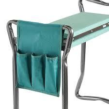 amazon com vonhaus 2 in 1 portable folding garden kneeler bench