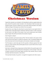 Games To Play In Christmas Parties - christmas family feud printable game by pamspartyprintables