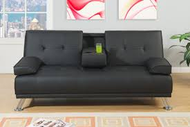Tufted Faux Leather Sofa by Acme Adjustable Futon Sofa Bed In Black Bycast Leather