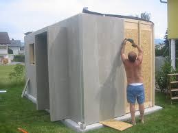 gartenhaus design flachdach montagefotos vom 12m cuboid