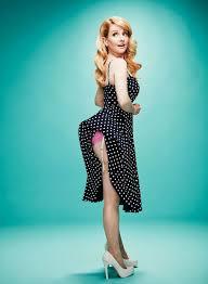 melissa wallpaper in pink wallpaper melissa rauch actress blonde green eyes polka dots