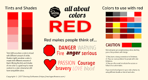 different shades of red color theory from raving software a look into red