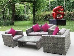 petit salon de jardin pour terrasse petit canape exterieur mc immo