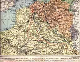 Map Of Belgium And Germany British Army Maps Of 1914 1918