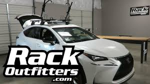 lexus f sport road bike lexus nx with rhino rack hybrid bike carrier racks youtube