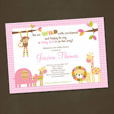 photo baby shower invitations for girls image