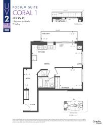 Watermark Floor Plan Uv2 Condos