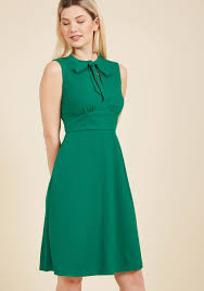 archival arrival a line dress in clover modcloth