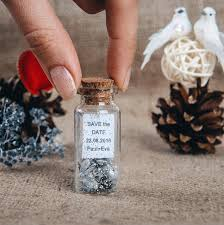 winter wedding favors silver wedding favors rustic save the date wedding favor bottles