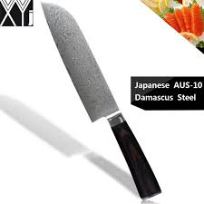damascus kitchen knives xyj aus 10 damascus cooking knives 7 inch japanese cook s knife 67