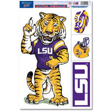lsu alumni sticker lsu tigers auto accessories louisiana state car mat