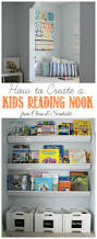 Vinyl Rain Gutter Bookshelves - kids reading nook gutter bookshelf reading nooks and rain