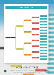 simple family tree template 25 free word excel pdf format