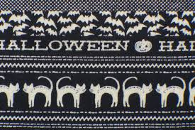 Glow In The Dark Halloween Fabric by Halloween Fabric Witches Skeletons Black Cats Halloween Bats