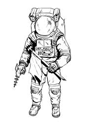 cartoon astronauts coloring pages easy