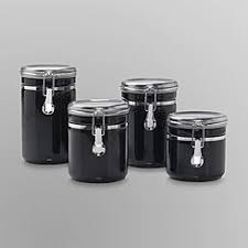 black kitchen canisters kitchen canisters kitchen jars kmart