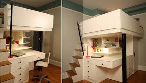 Top Bunk Bed With Desk Underneath Wood Bunk Bed With Desk Underneath Intended For Popular House