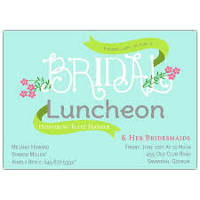 bridesmaid luncheon invitation wording floral bridal luncheon invitations paperstyle