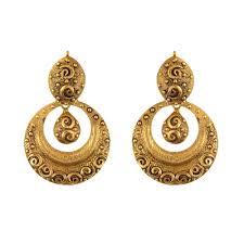 gold kaan earrings gold earrings for women buy gold earrings online chintamanis