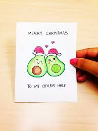 to my card christmas card boyfriend merry christmas to my other half