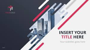 diagonal free creative powerpoint template cover slide 2