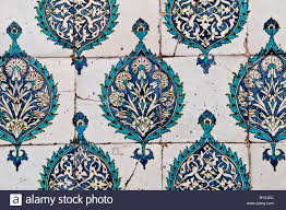Ottoman Harem by Ornately Decorated Ceramic Tiles In The Harem Of The Topkapi