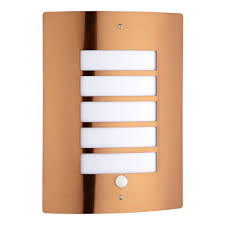 Outdoor Motion Sensor Wall Light by Orleans Stainless Steel Outdoor Wall Light Copper With Pir Motion