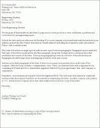 business report letter sample the best letter sample
