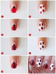 10 best ladybug nail art images on pinterest ladybug nail art