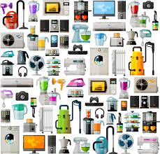Home Design Vector Free Download Realistic Home Appliances Vector Set 03 Vector Life Free Download