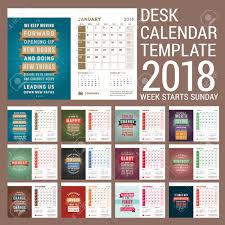 desk calendar template for 2018 year template with motivational